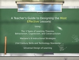 Designing the Most Effective Lessons: Using Learning Theories, Marzano, and UD