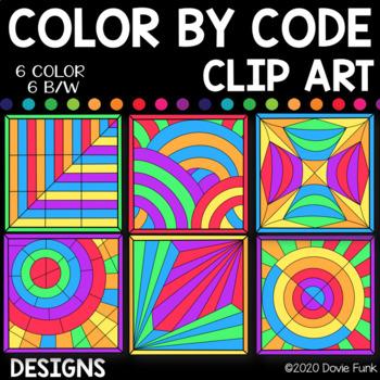 Designs Color by Code Clip Art