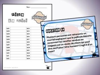 Désinformation (cartes à tâches) (Éthique et culture religieuse)