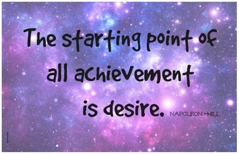 Desire to Achieve 11x17 Classroom Poster Motivation Charac