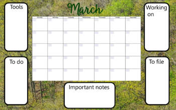 Desk Calendar - Nature Scenes - For Any Year