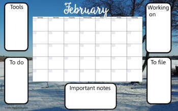 Desk Calendar of Nature Scenes For Any Year Classroom Decor