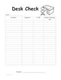 Desk Check Sheet
