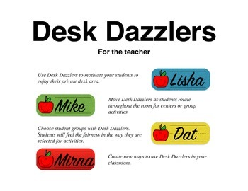 Desk Dazzlers ABC 2 FREE - A Monthly Student Name Plate (Primary)