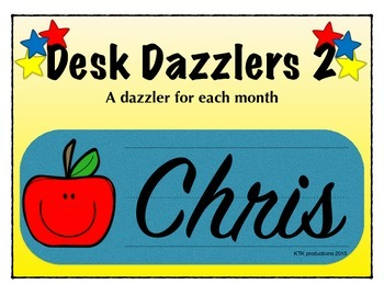 Desk Dazzlers ABC 2 - A Monthly Student Name Plate (Primary)