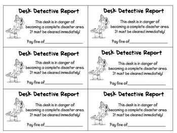 Desk Detective
