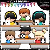 Desk Dice Kids Clip Art - Math Clip Art & B&W Set