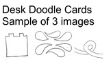 Desk Doodle Name Tags Cards-help keep your desk clean and students focused