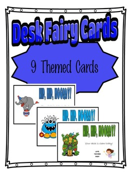 Desk Fairy Cards 9 Designs