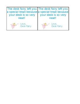 Desk Fairy Cards
