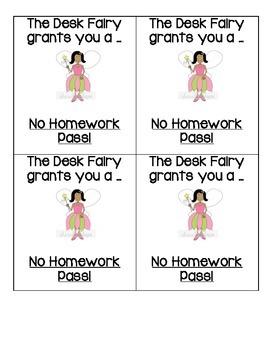 Desk Fairy Certificates