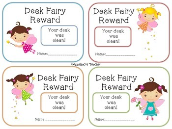 Desk Fairy Passes - Freebie