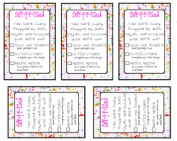 Desk Fairy Printable {For Elementary}