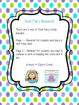 Desk Fairy Printables