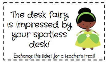 Desk Fairy Reward and Reminder Cards
