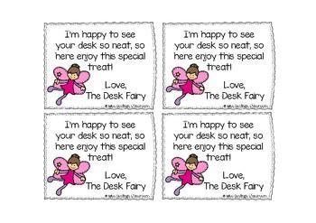 Desk Fairy Tags