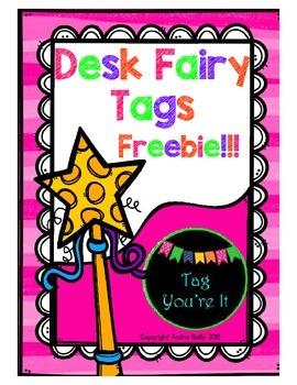 Desk Fairy Tags Freebie!