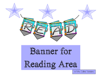 "Reading Area/Wall Banner ""READ"""