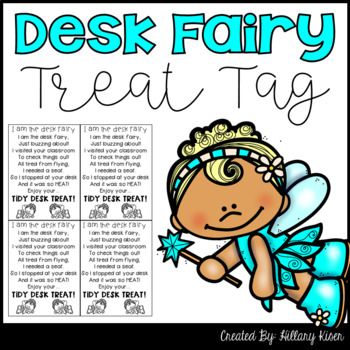 Desk Fairy Treat Tags