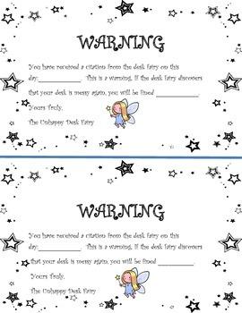 Desk Fairy Warning