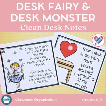 Desk Fairy and Desk Monster Clean Desk Notes