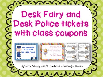 Desk Fairy and Desk Police with Coupons