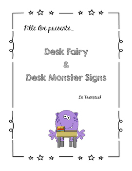 Desk Fairy and Monster Signs!
