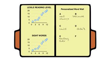 Desk File Folders for Personalized Word Wall & Goal Tracker