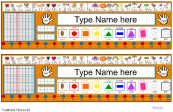 Desk Help Nametags in Tropical Colors: Lime, Teal, Hot Pink, and Orange
