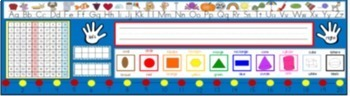 Editable Desk Help Nametags and Alphabet, and Word Wall in Blue and Chevron
