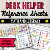Desk Helper Reference Sheet