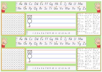 Desk Label - Beginners Alphabet