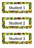 Name Tags - Desk Labels - Polka Dot - Green