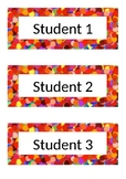 Name Tags - Desk Labels - Polka Dot - Red