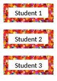 Name Tags - Desk Labels - Polka Dot - Red
