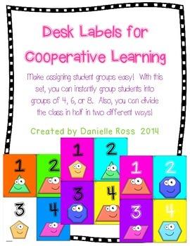 Desk Labels for Cooperative Learning