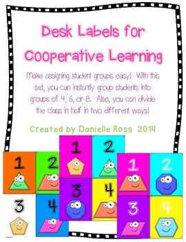 Desk Labels for Cooperative Learning