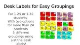 Desk Labels for Easy Groupings