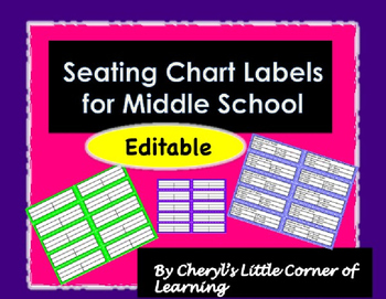 Desk Labels for Middle School and High School - Editable!