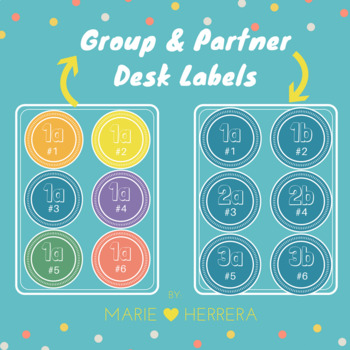 Desk Labels for Partners and Groups