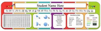 Desk Labels for Students- Editable