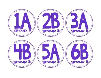 Desk Labels for class grouping