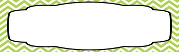 Desk Labels or Bulletin Board Signs {editable}