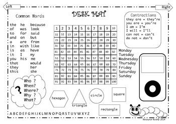 FREE Desk Mat & Busy Sheet
