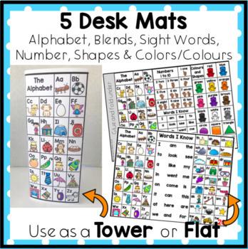 5 Desk Mats, Place Mats Alphabet, Blends and More