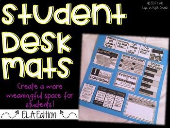 Desk Mats for Students (ELA Edition)