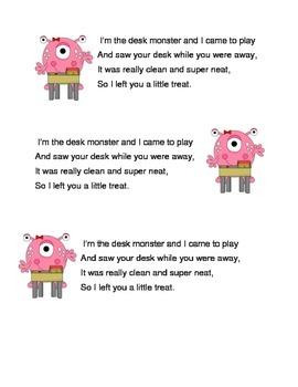 Desk Monster Note