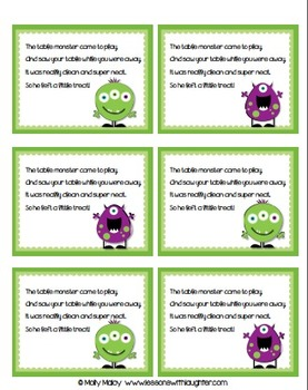 Desk Monster Note FREEBIE