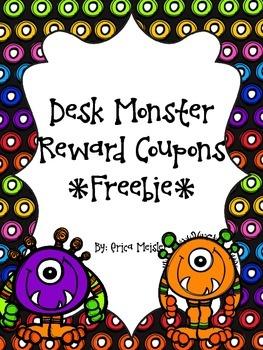 Desk Monster Reward Coupons FREE