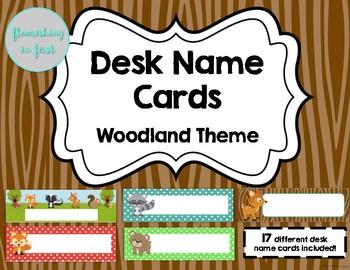 Desk Name Cards - Woodland Classroom